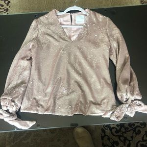 Pink sequin C/MEO Collective top